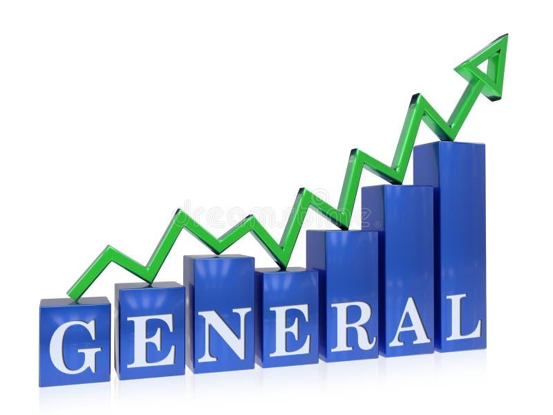 Grafico generale in aumento royalty illustrazione gratis