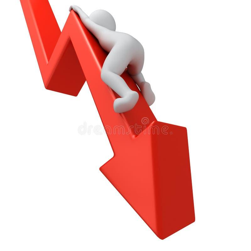 Grafico giù illustrazione di stock
