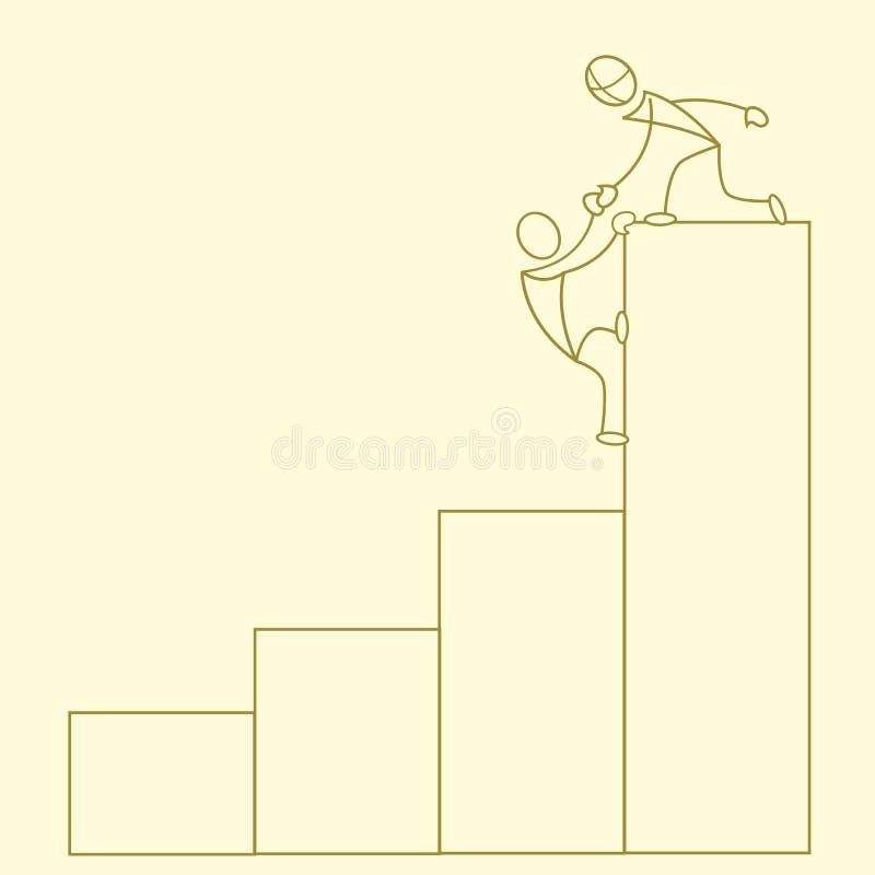 Grafico impreciso di sviluppo di affari illustrazione di stock