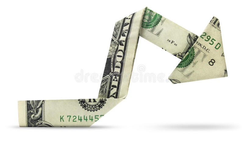 Grafico isolato del dollaro immagine stock libera da diritti