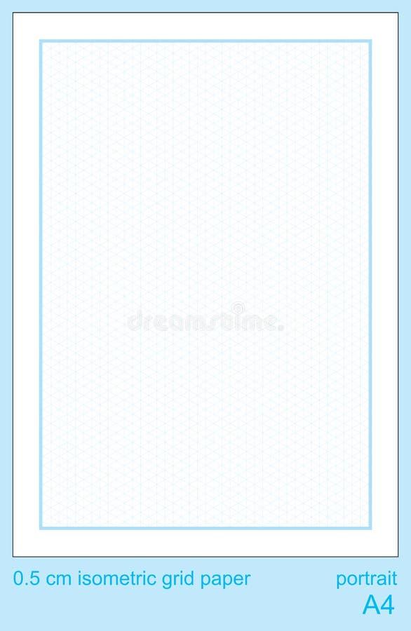 5 grafico isometrico di griglia di griglia di cm A4 di vettore isometrico di carta isometrico di griglia royalty illustrazione gratis