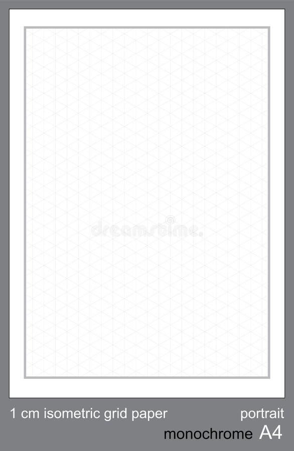 1 grafico isometrico di griglia di griglia di cm A3 di vettore isometrico di carta isometrico di griglia royalty illustrazione gratis