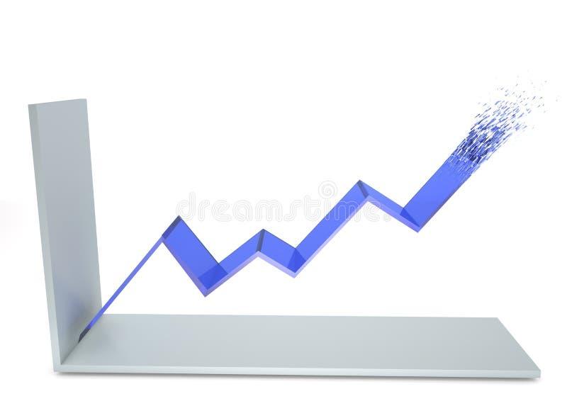 Grafico lineare illustrazione di stock