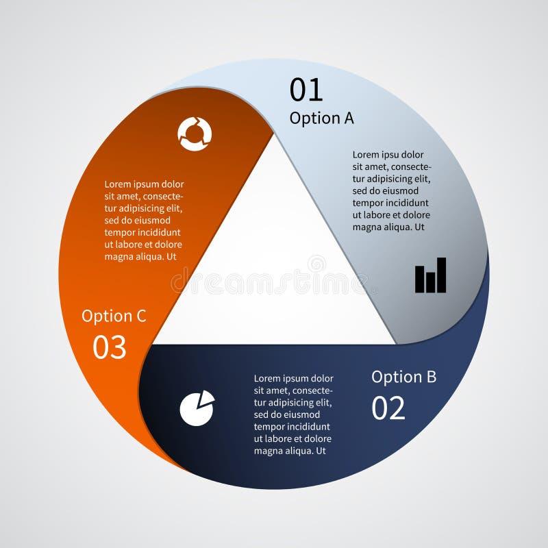 Grafico moderno di informazioni di vettore per il progetto di affari royalty illustrazione gratis