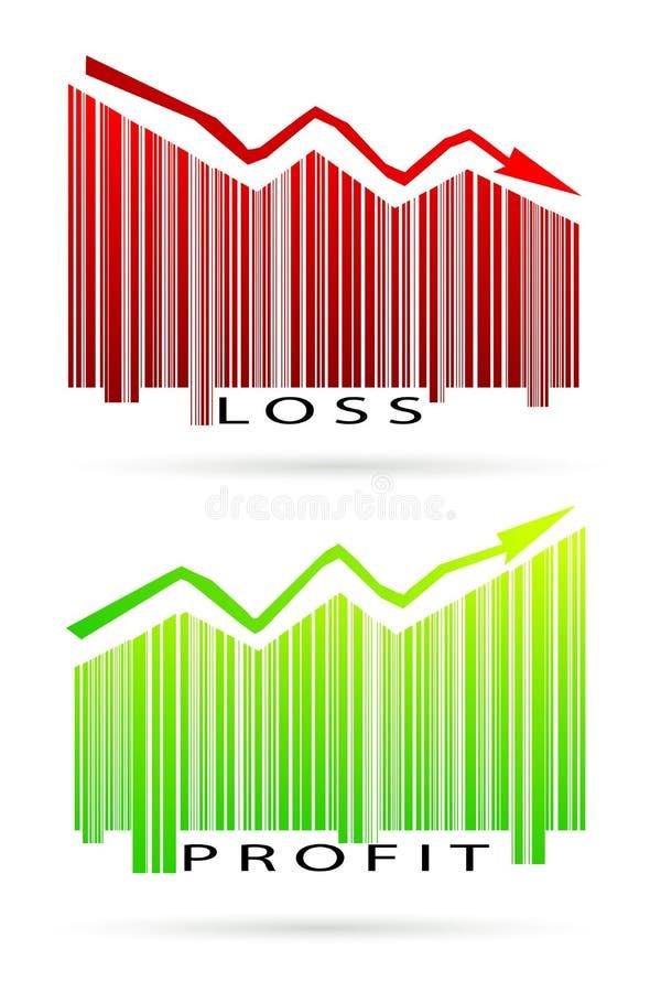 Grafico profitti e perdite illustrazione vettoriale