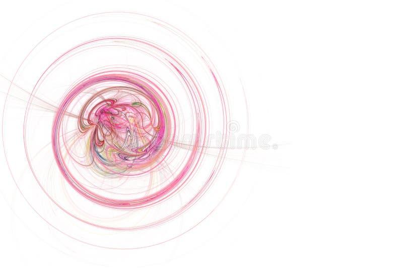 Grafico - spirale dentellare al neon illustrazione di stock