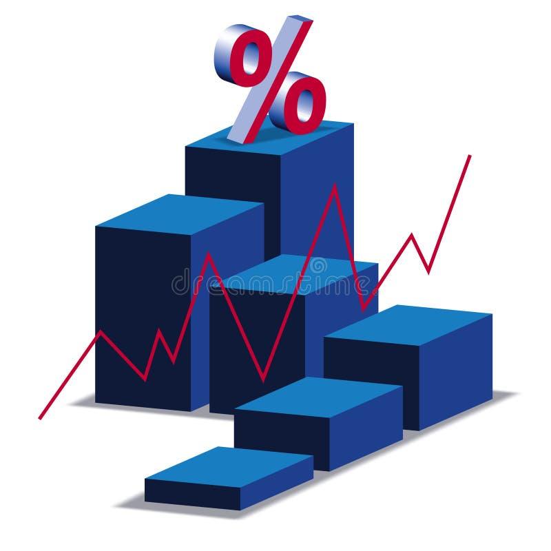 Grafico a strisce illustrazione di stock