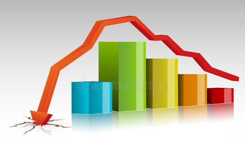 Grafico a strisce arrestato illustrazione di stock