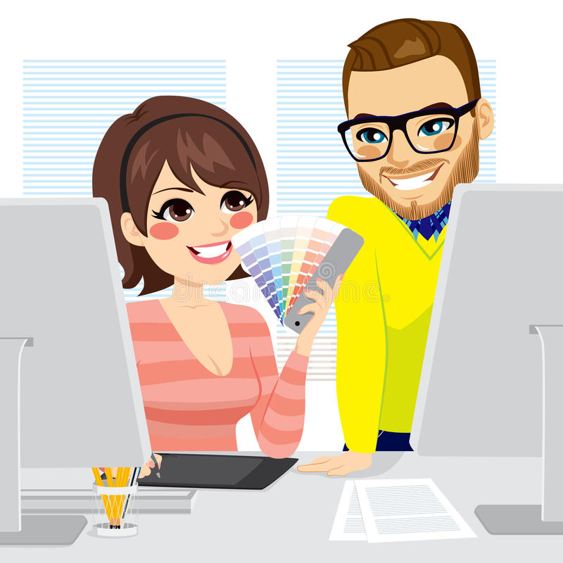 Grafico Teamwork illustrazione di stock