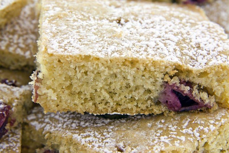 Grafico a torta casalingo fresco dell'amarena immagine stock