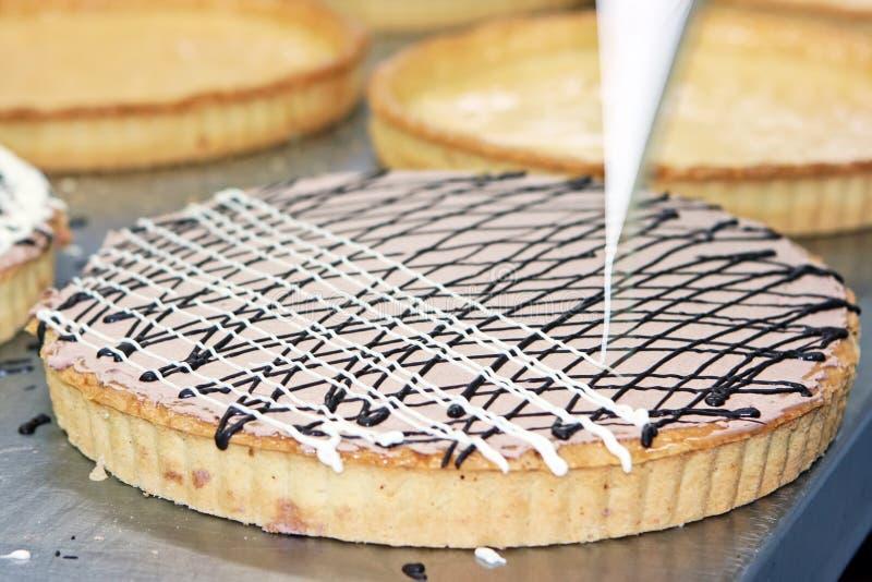 Grafico a torta crema fotografia stock libera da diritti