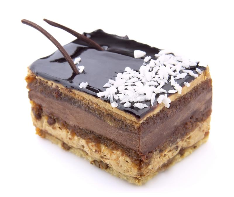 Grafico a torta del cioccolato immagine stock libera da diritti