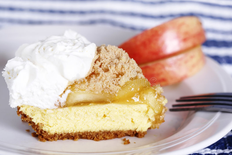 Grafico a torta del formaggio cremoso del Apple immagini stock