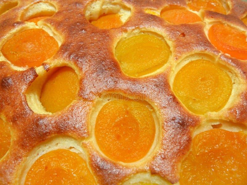 Grafico a torta dell'albicocca dettagliatamente fotografia stock
