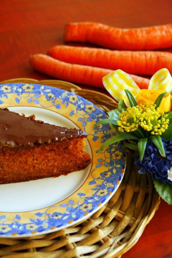 Grafico a torta della carota fotografia stock