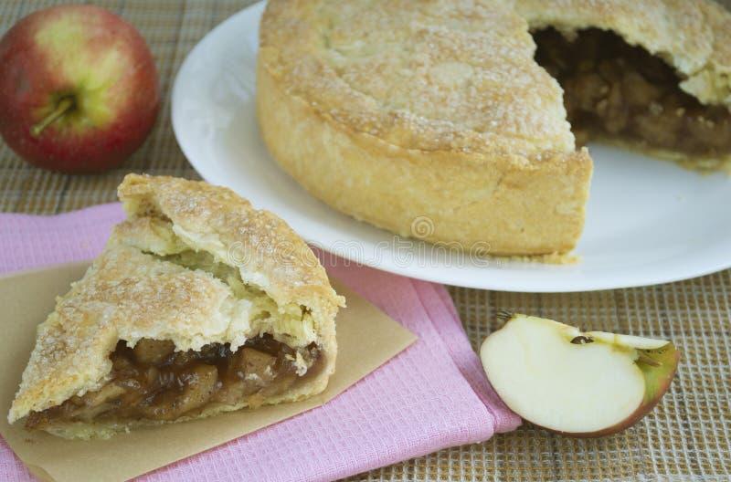 Grafico a torta di mela americano fotografia stock