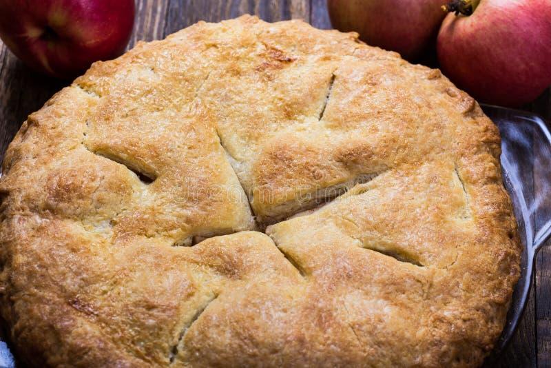 Grafico a torta di mela casalingo fotografia stock