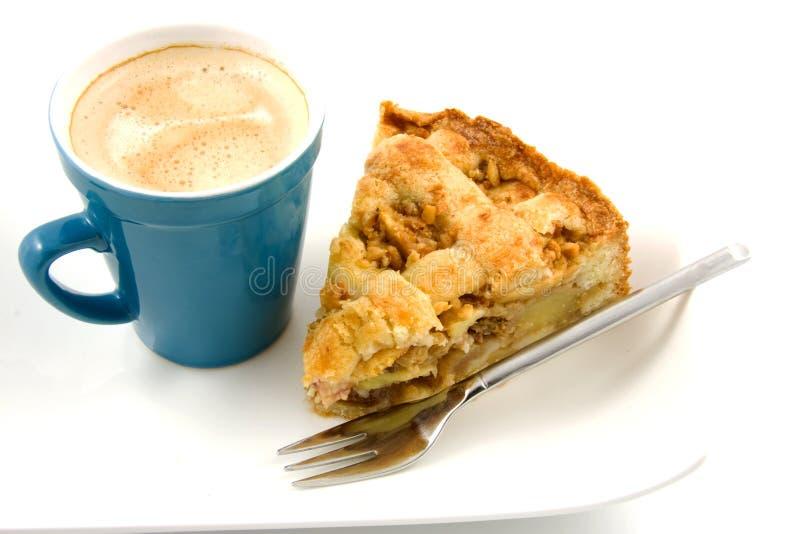 Grafico a torta di mela e del caffè fotografia stock libera da diritti