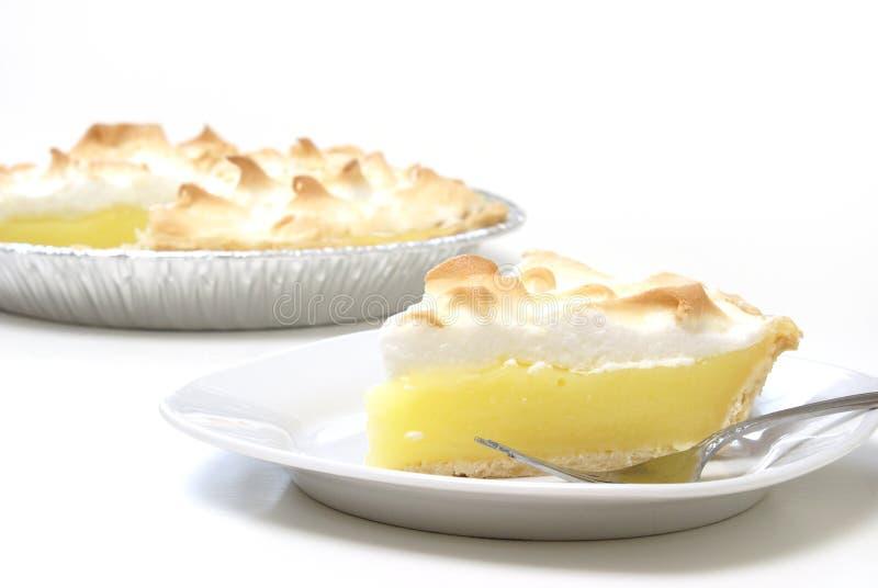 Grafico a torta di meringa di limone immagine stock libera da diritti