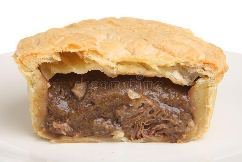Grafico a torta di rene & della bistecca fotografia stock
