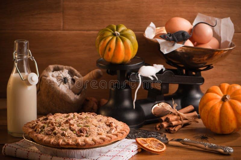 Grafico a torta di zucca di Halloween fotografie stock libere da diritti