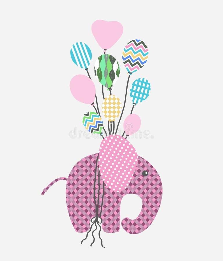 grafico volante dell'elefante, grafici per i prodotti dei bambini royalty illustrazione gratis
