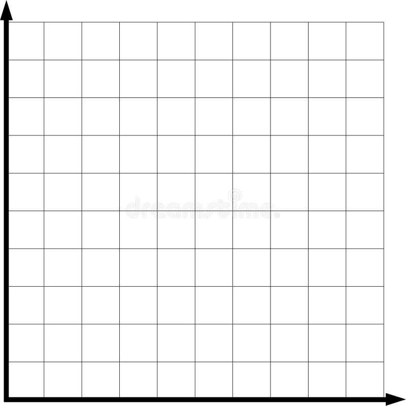 Grafico vuoto di asse di due per la matematica per la presentazione illustrazione vettoriale