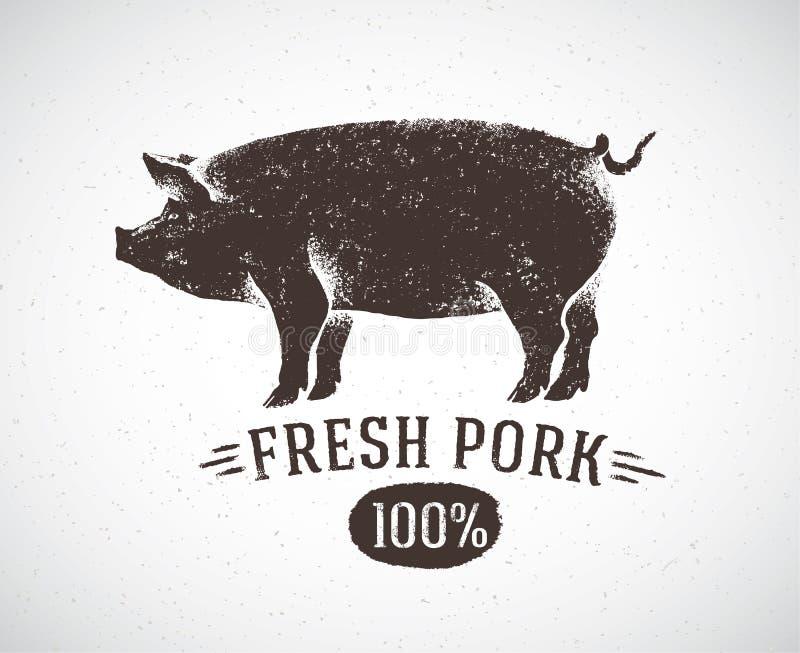 Graficzna świnia ilustracja wektor