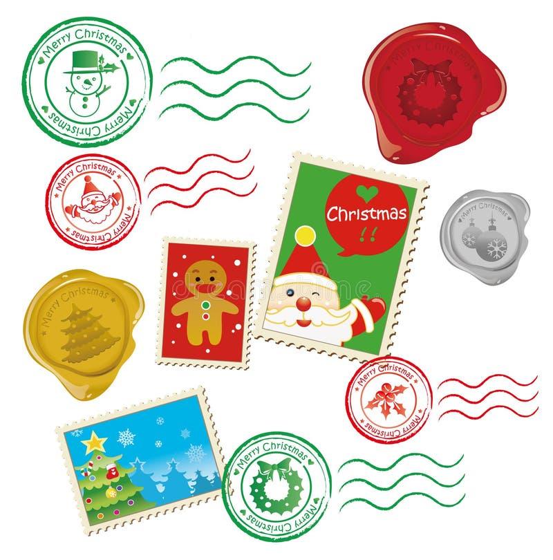 graficzna Boże Narodzenie poczta ilustracja wektor