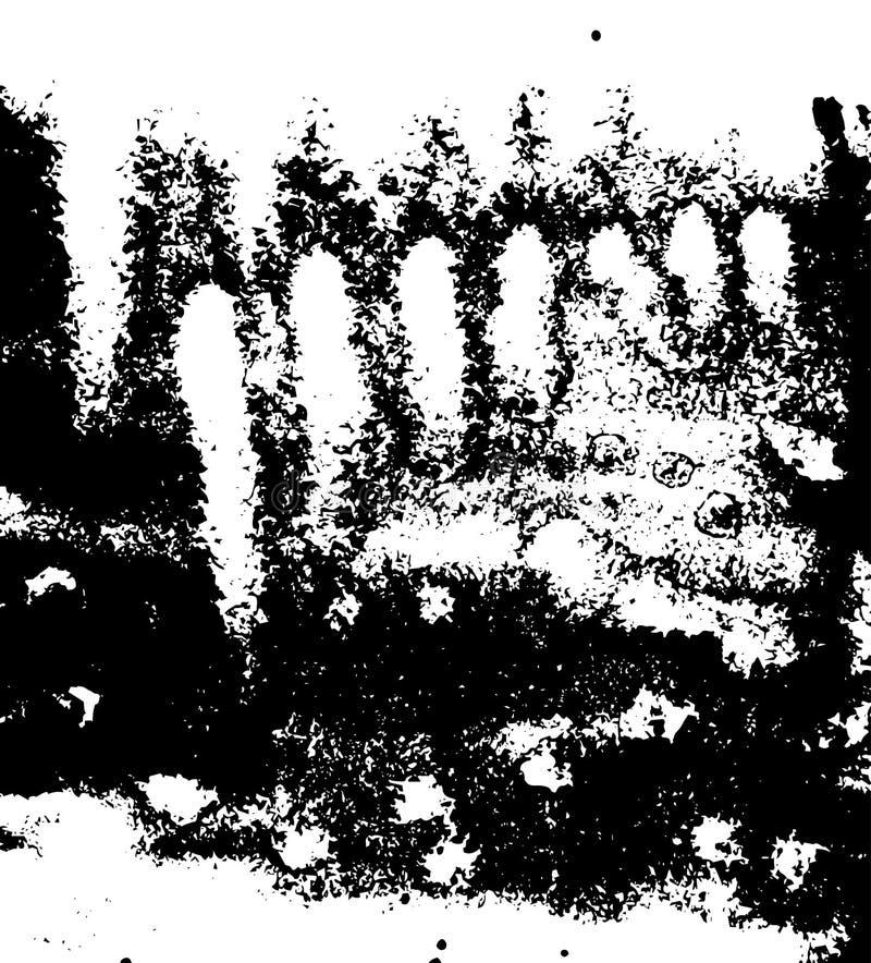 Graficzna ilustracja dla Retro Grunge Drapającego projekta Papierowy folwarczka szablon royalty ilustracja