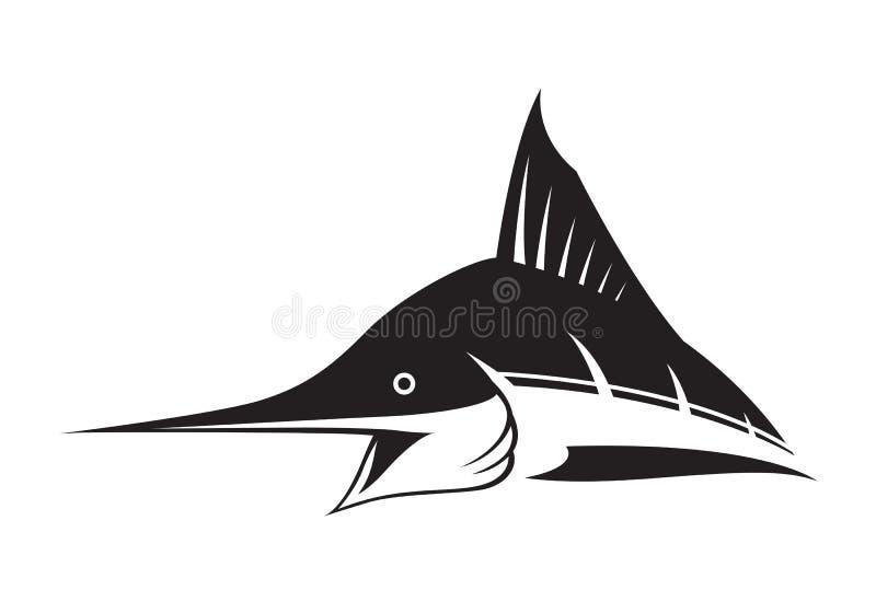 Graficzna marlin ryba ilustracji