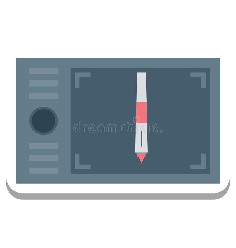 Graficzna pastylka, Digitizer Wektorowa ikona editable ilustracja wektor