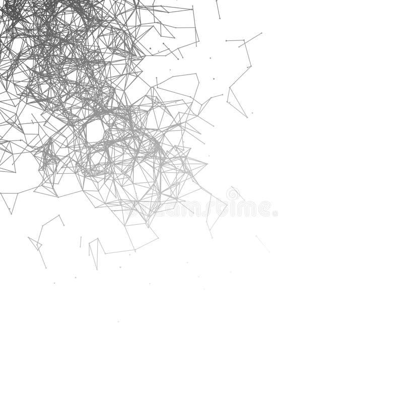 Graficzna tło molekuła, komunikacja i royalty ilustracja