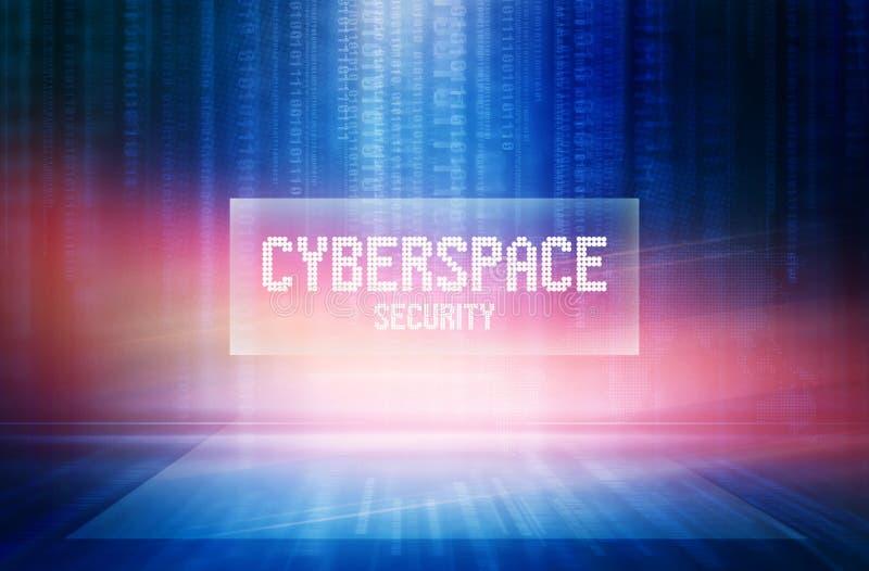 Graficzne abstrakcjonistyczne cyberprzestrzeni ochrony teksta tła pojęcia serie royalty ilustracja