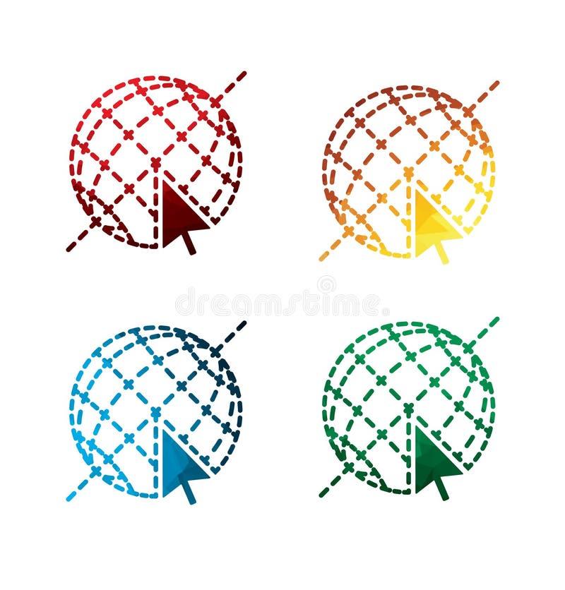 Graficzne Internetowe ikony na białym tle odizolowywający ikona internety EPS8 royalty ilustracja