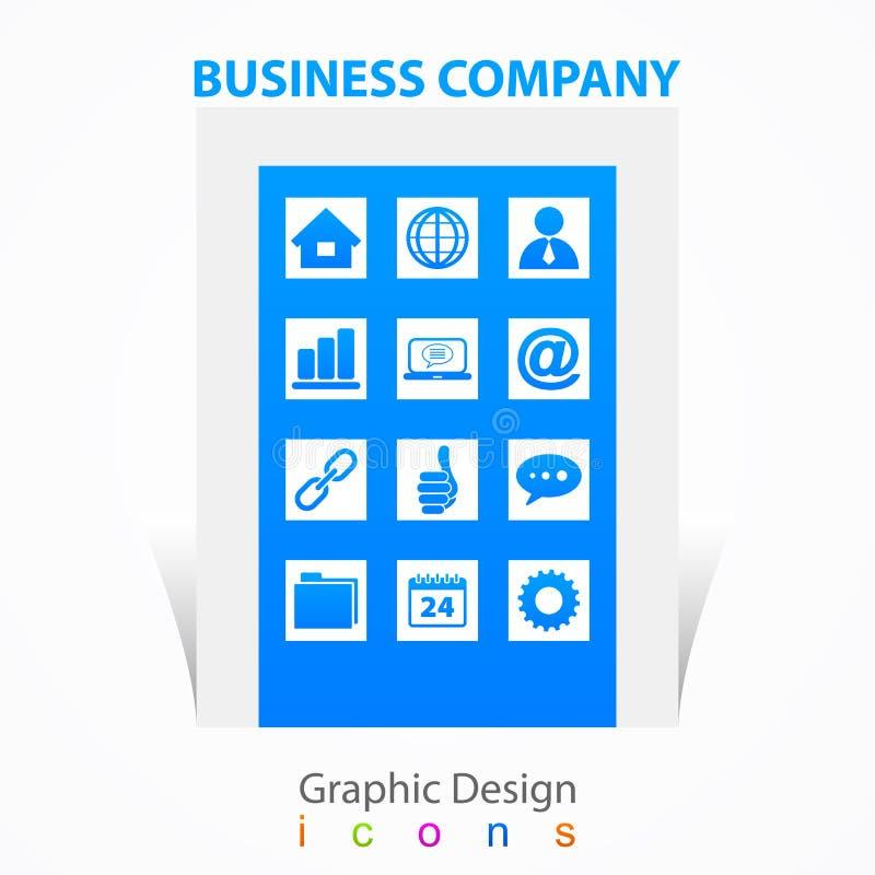 Graficznego projekta biznesowej firmy ikon znaki royalty ilustracja