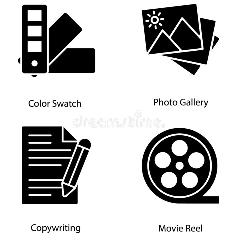 Graficznego projekta ikon plik ilustracja wektor