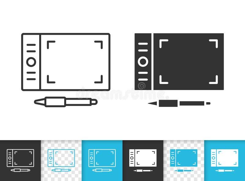 Graficznej pastylki czerni linii wektoru prosta ikona ilustracji