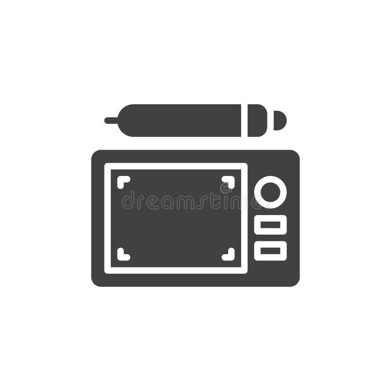 Graficznej pastylki i pióra wektoru ikona ilustracja wektor