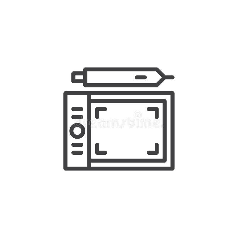 Graficznej pastylki konturu ikona royalty ilustracja