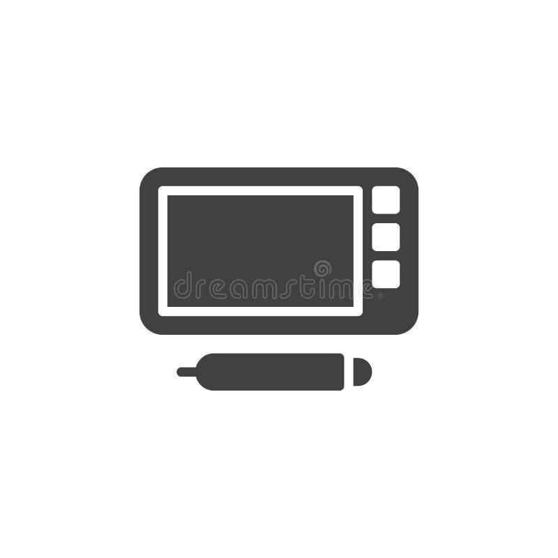 Graficznej pastylki wektoru ikona ilustracja wektor