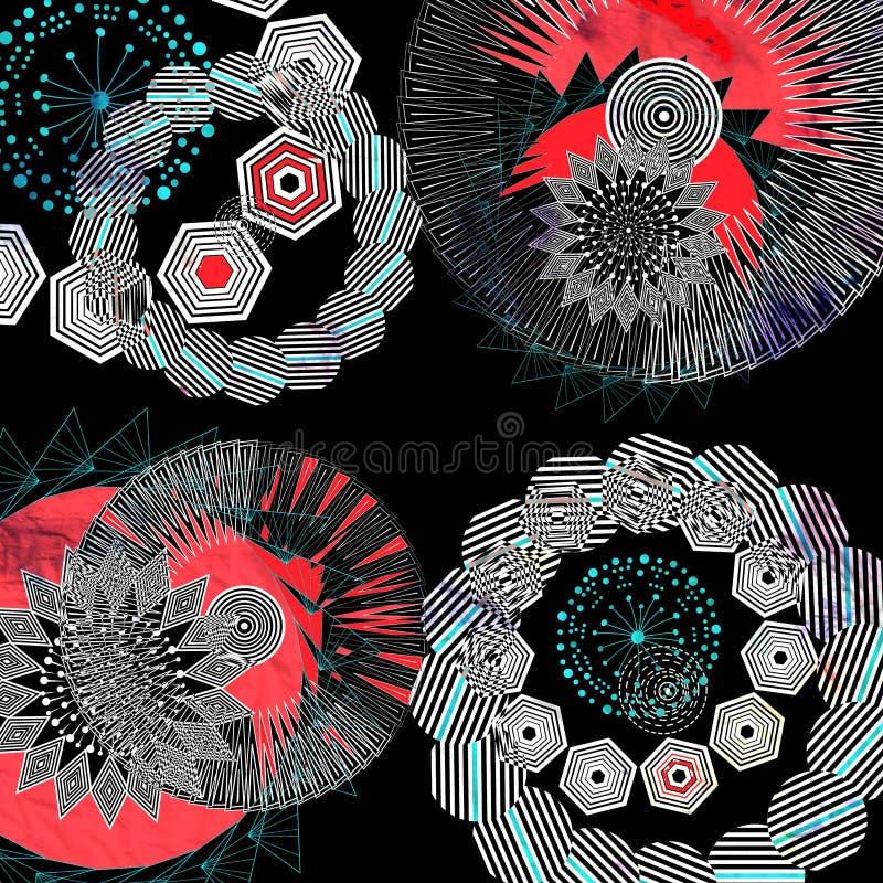 graficzni abstrakcjonistyczni elementy ilustracja wektor