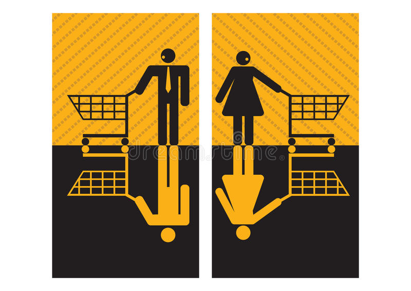 graficzni biznesmenów bizneswomany royalty ilustracja