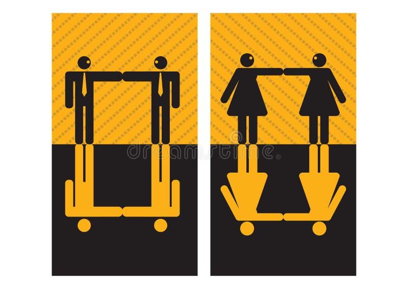 graficzni biznesmenów bizneswomany ilustracja wektor