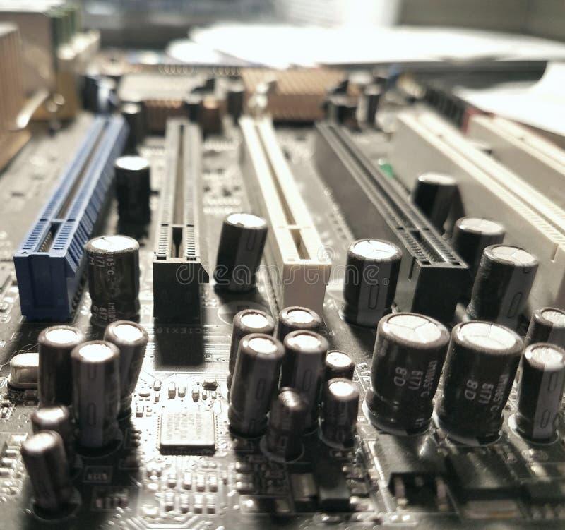 Graficzni capacitors fotografia stock