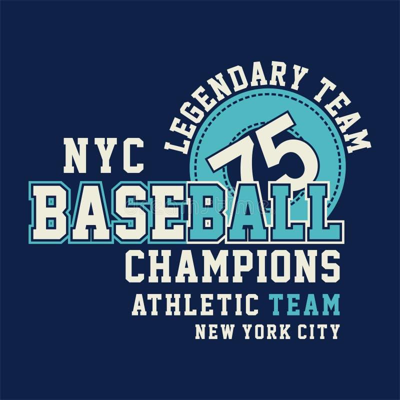 Graficzni NYC baseballa mistrzowie royalty ilustracja