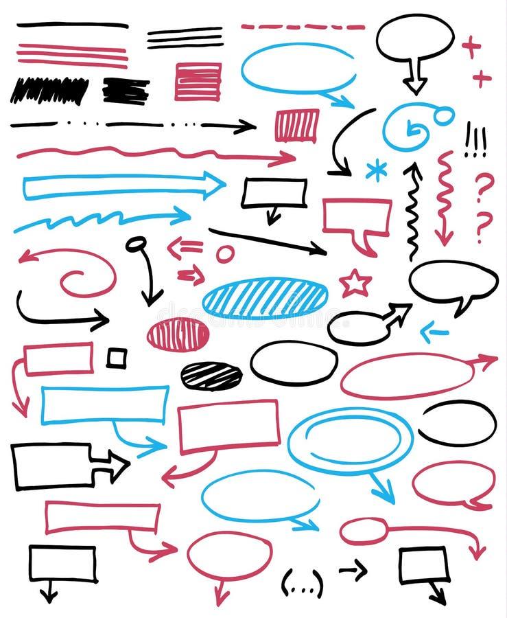 Graficzni znaki. royalty ilustracja