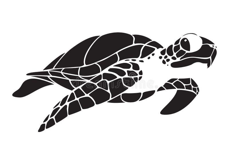 Graficzny żółw, wektor ilustracji