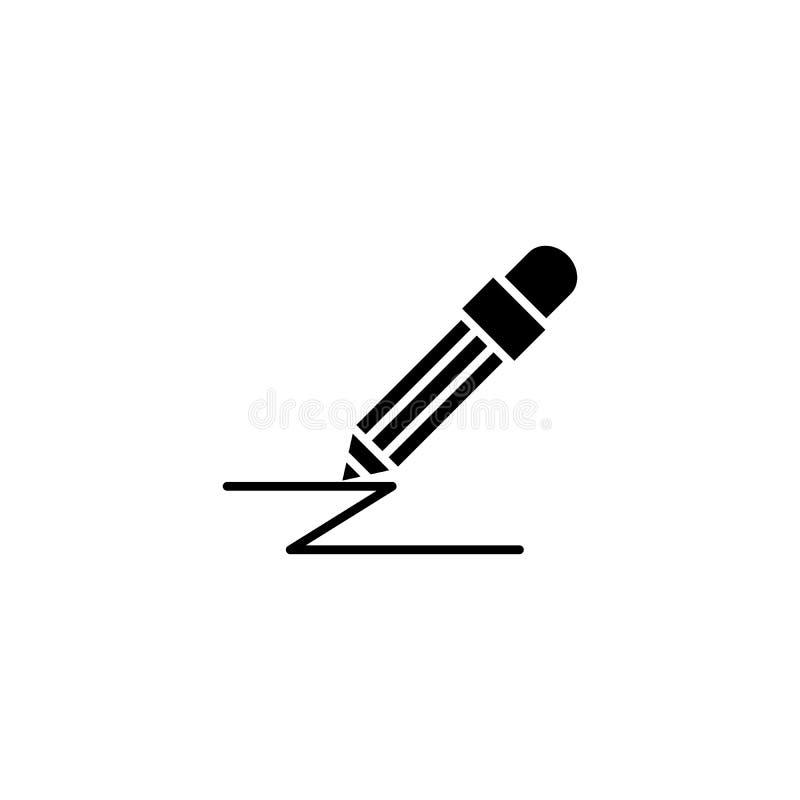 Graficzny budowy czerni ikony pojęcie Graficznej budowy płaski wektorowy symbol, znak, ilustracja royalty ilustracja