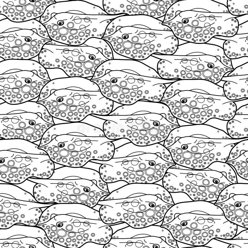 Graficzny drętwienie ryba wzór ilustracji